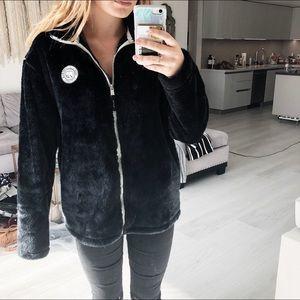 Ivory Ella Furry Jacket